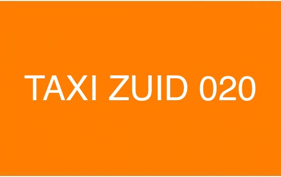 Taxi Zuid 020 - Amsterdam Taxi Service Airport & City